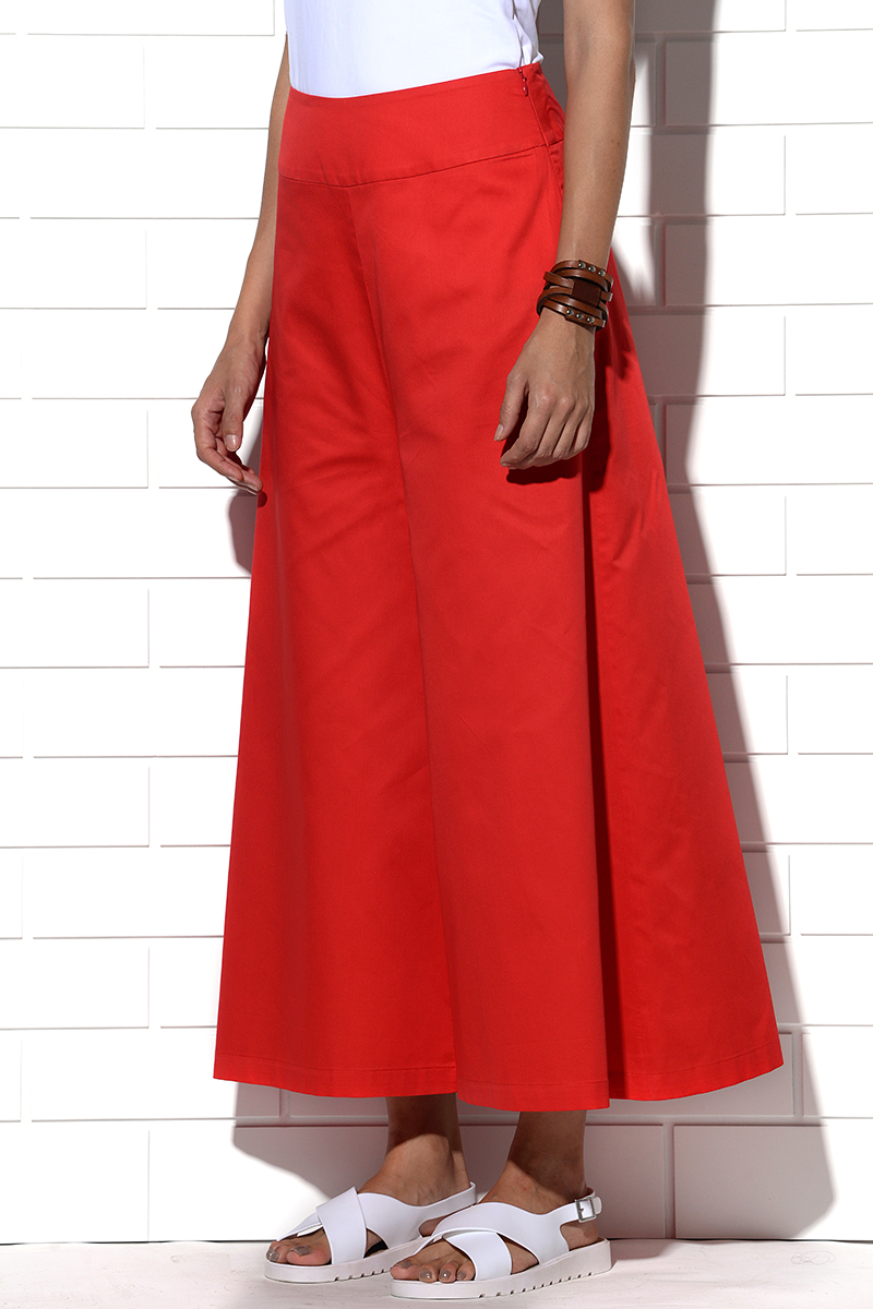 Icaria wide leg pants in red