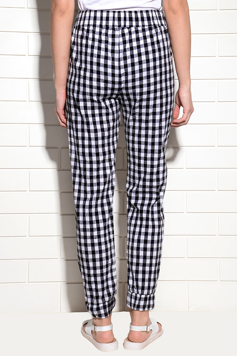 Payaso Woven Check Elasticated pants
