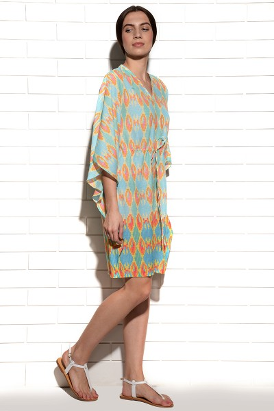 Cyan beachside kaftan