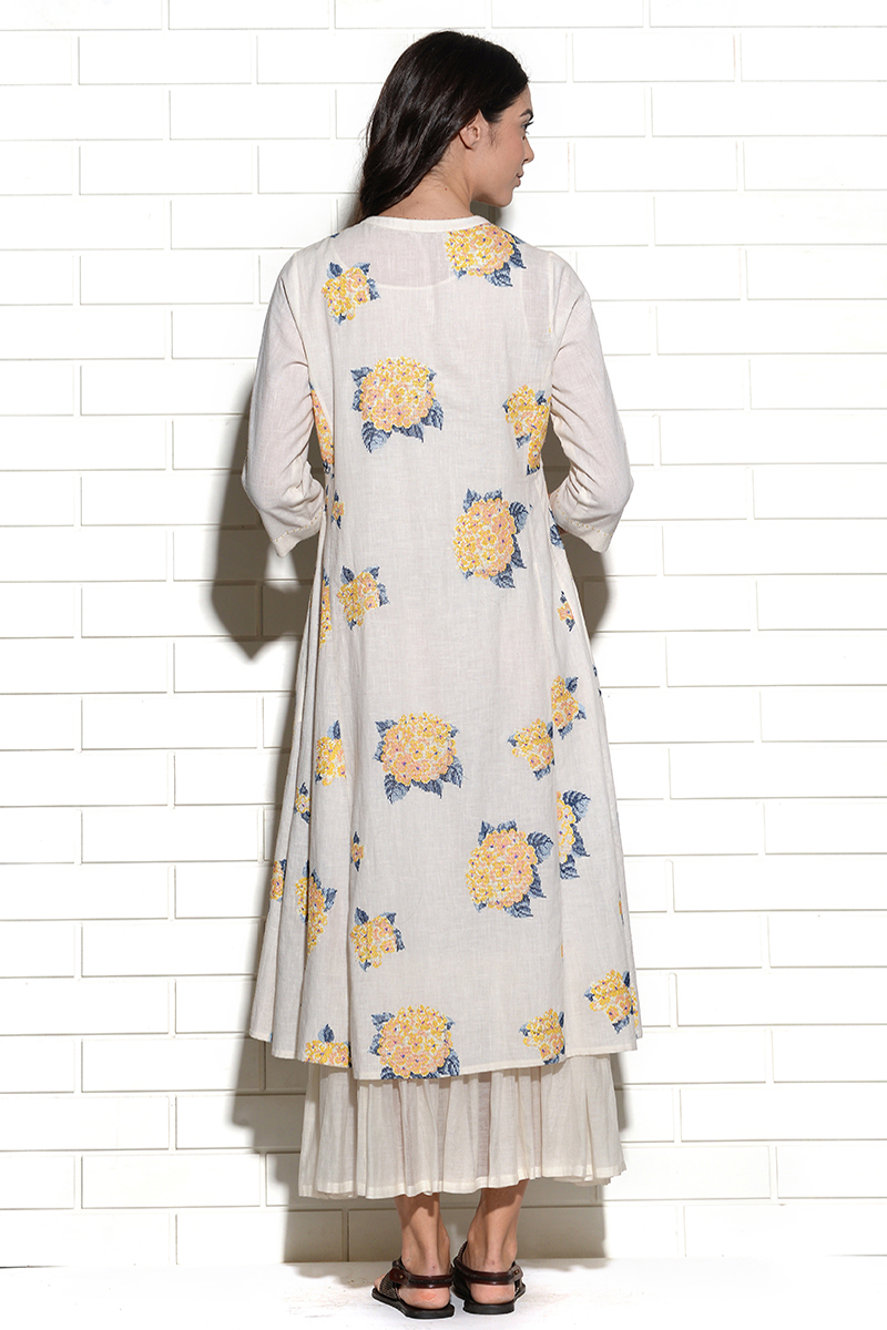 Tuscan sun hydrangea tunic dress