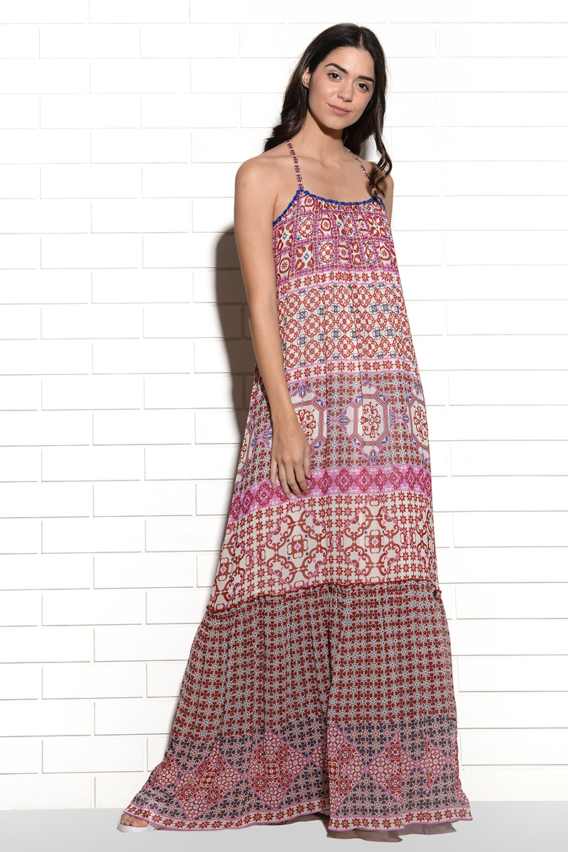 Biscay printed maxi dress