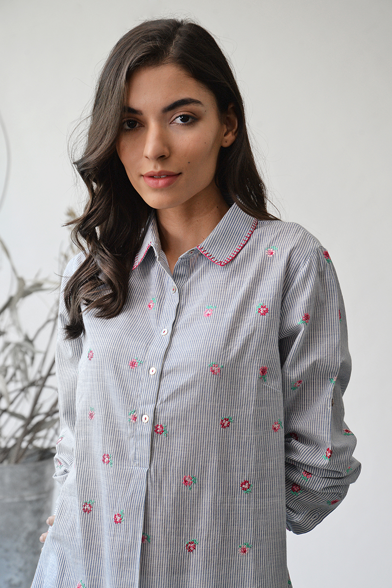 Alexandra rose straight tunic