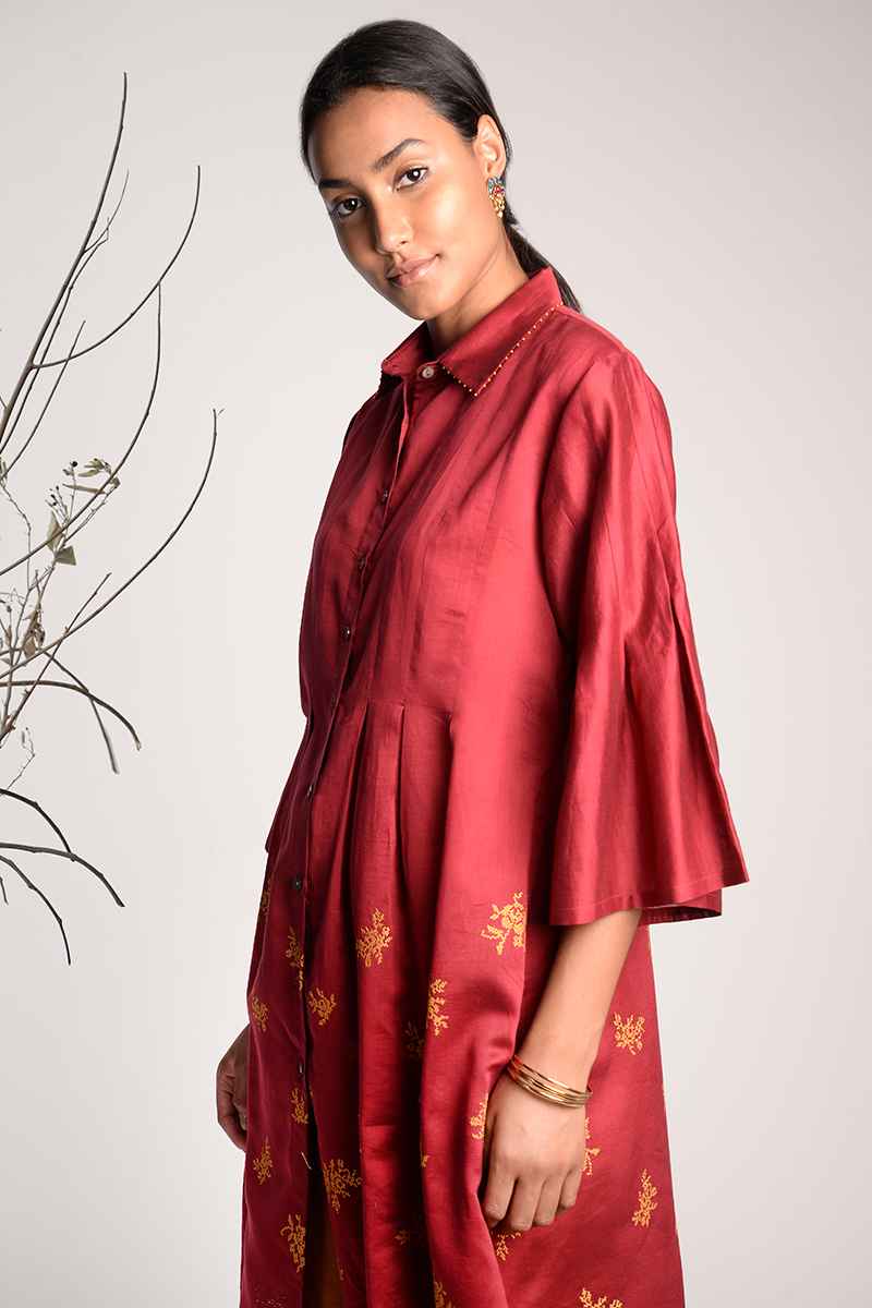 Salto Embroidered Tunic Dress