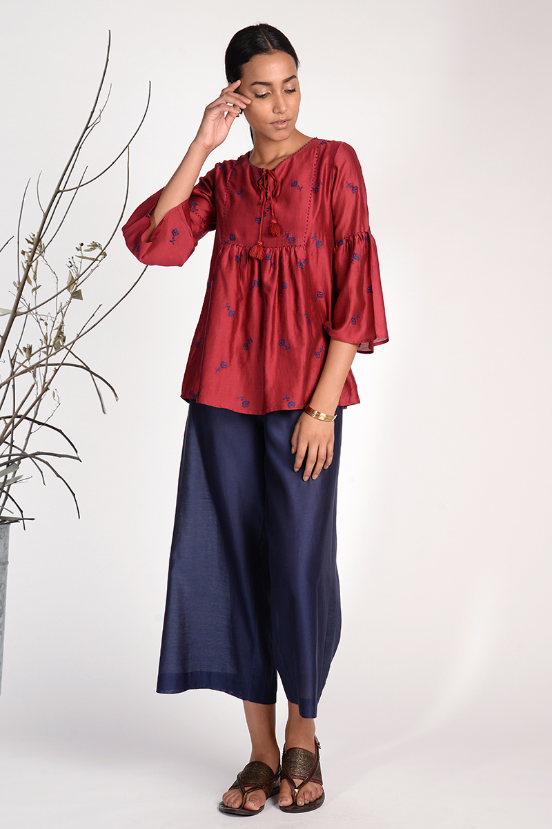 Triffis Embroidered Peasant Top