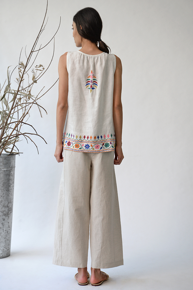 Sarovar Embroidered Top