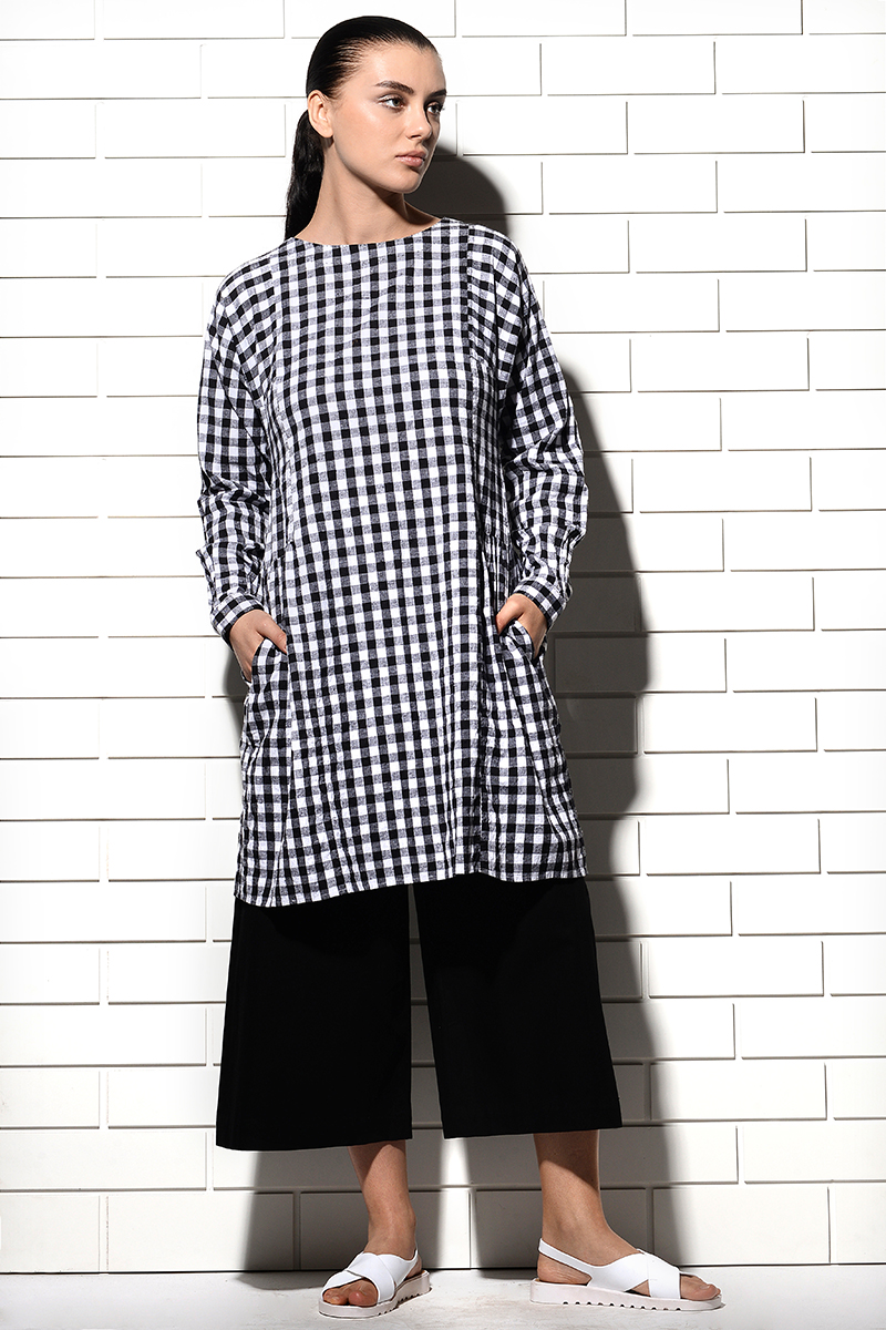 Medina Woven Checks Dress