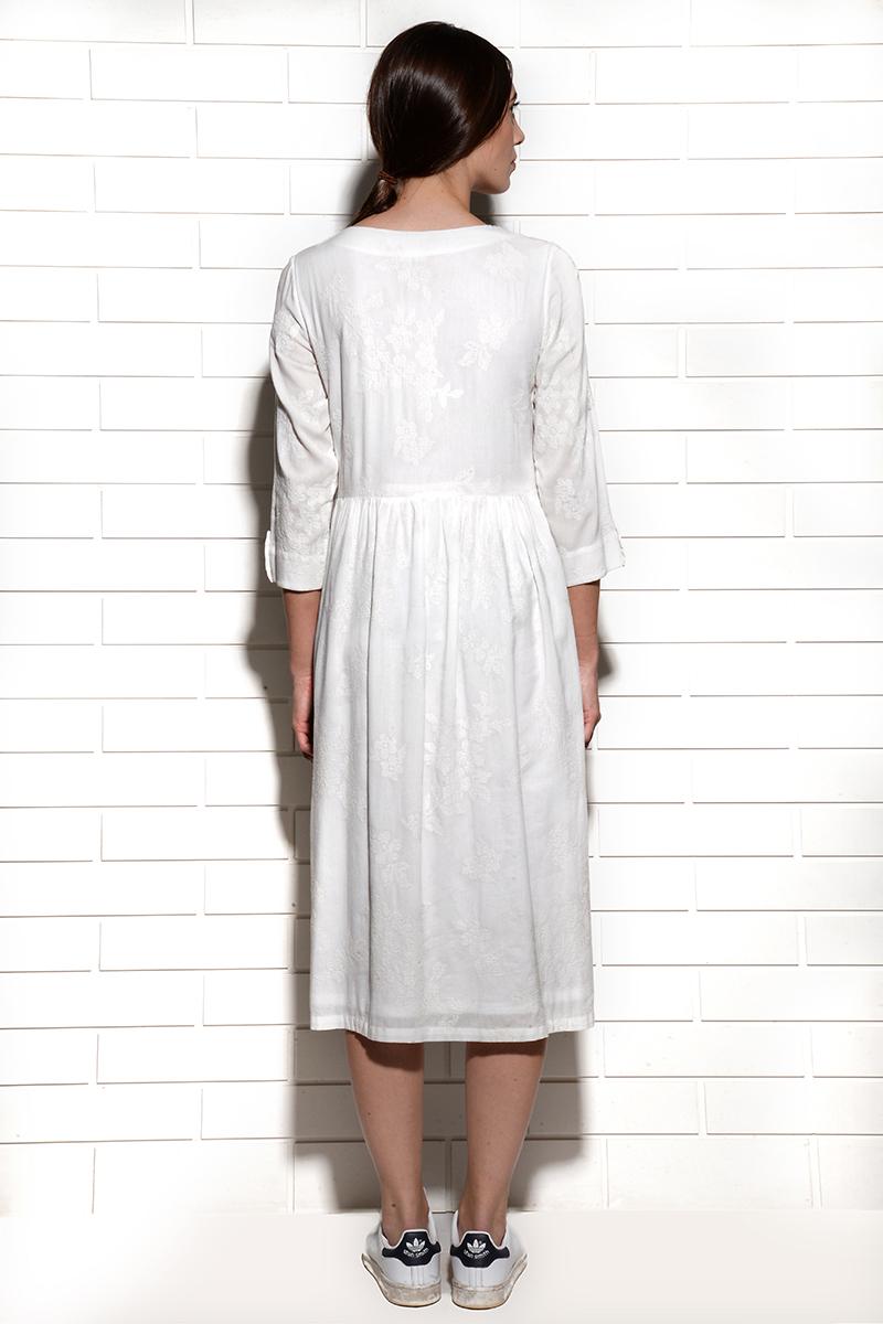 Alabaster Embroidered Dress