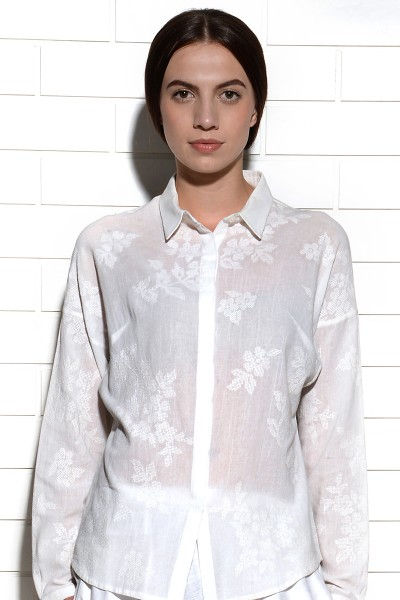 Tehuano Collared Embroidered Shirt