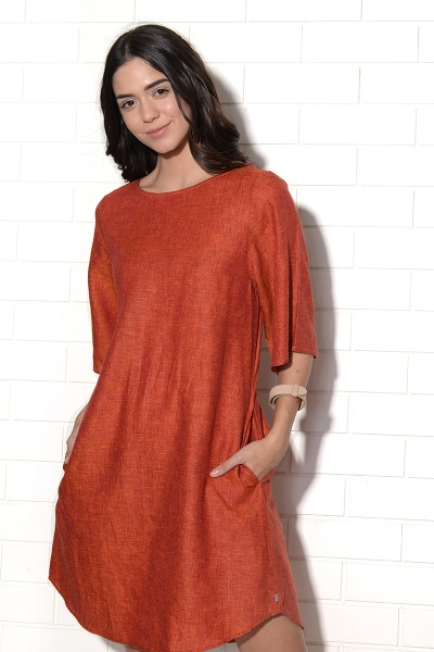 Mistral Tunic Dress with stitch detailing