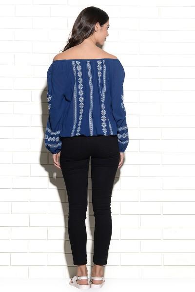 Off shoulder Zagreb embroidered top