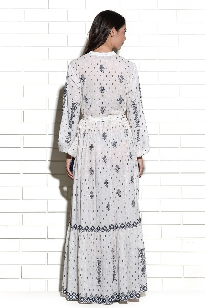 Sumrasar cross stitch embroidery maxi Dress