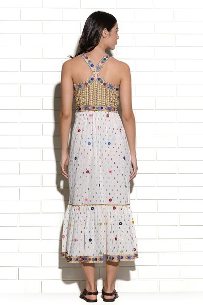 Chinkara embroidered mirrorwork bodice Dress