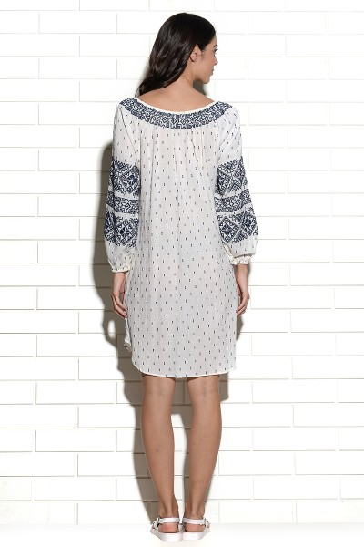 Anjar cross stitch embroidered tunic Dress