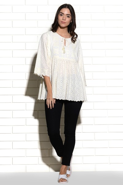 Opatija embroidered easy top