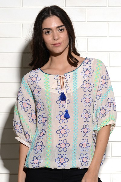 Nevsky embroidered top