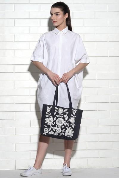 Floral Ivy Tote Bag