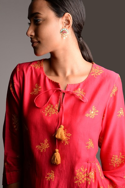 Somi Embroidered Tunic Dress