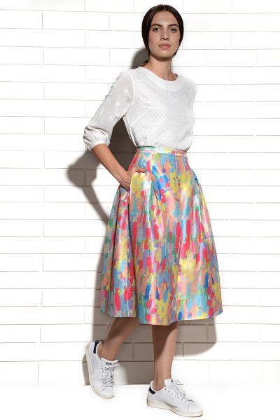 Candy Brushstroke Skirt