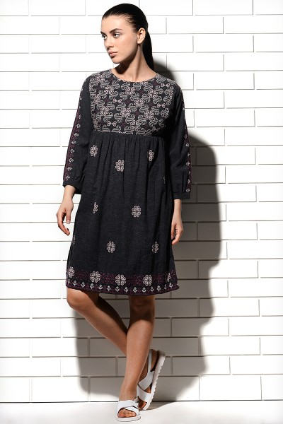 Leones Embroidered Tunic Dress